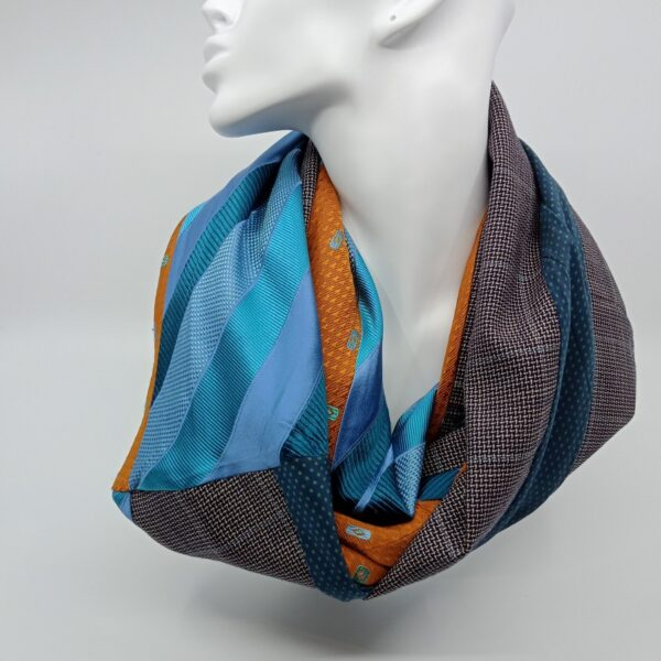 burnt-yellow-and-turquoise-silk-and-wool-scarf-by-judith-scott-upcycling judithscott 391207