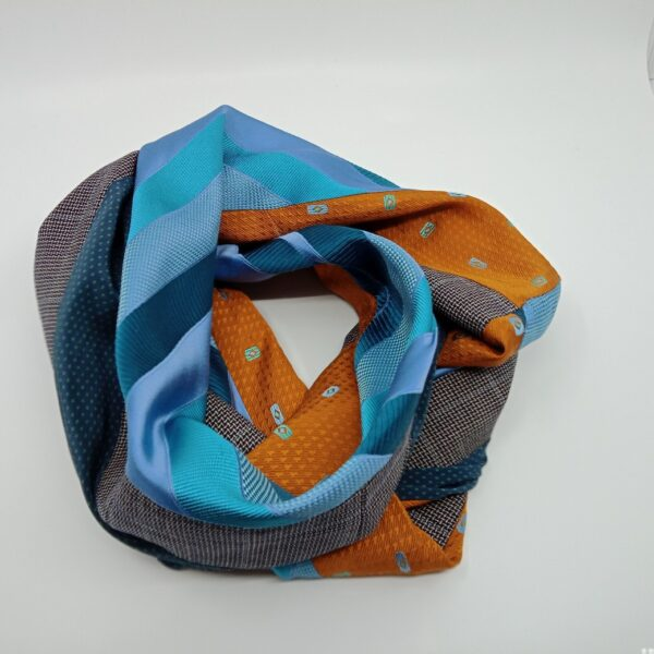 burnt-yellow-and-turquoise-silk-and-wool-scarf-by-judith-scott-upcycling judithscott 844851