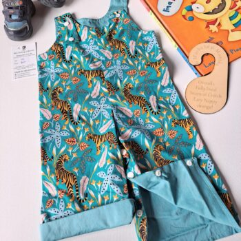 Size 00 Overalls Tigers by St David Studio
