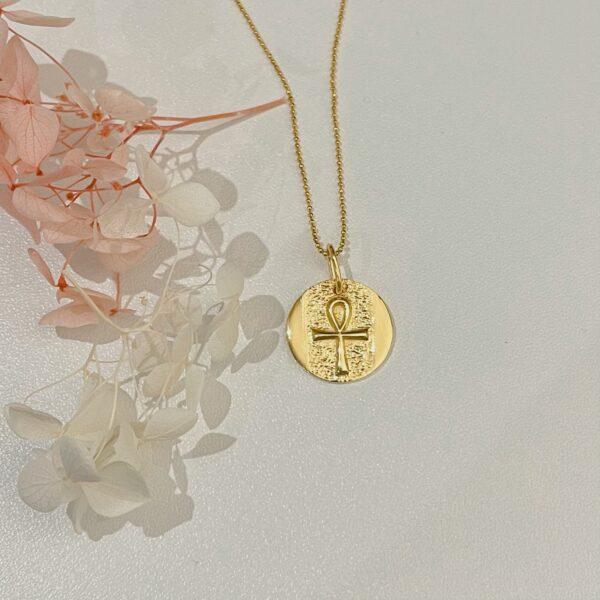 14k-gold-plated-ankh-necklace AshleyChloe 732048