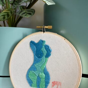 stitching-contours-mapping-bodies-hand-stitched-embroidery-original-art-steel-blue-by-georgiarubyp georgiarubyp 252403