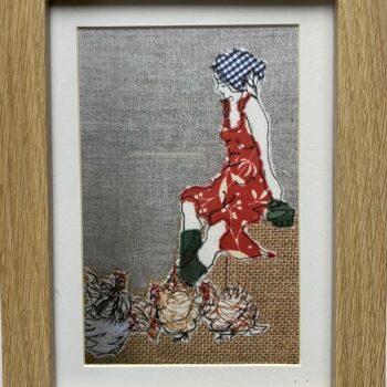 mistress-of-the-chickens-framed-artwork-print-by-juliet-d-collins julietdcollins 513712