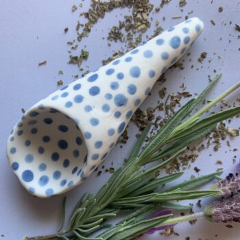 funky-alice-blue-cone-porcelain-spoon-by-the-intrepid-potter theintrepidpotter 215811