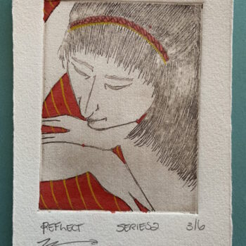 beautiful-hand-painted-etching-of-woman-with-red-striped-dress-by-the-intrepid-potter theintrepidpotter 838955