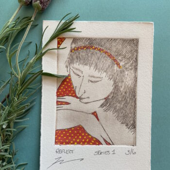 beautiful-hand-painted-etching-of-woman-with-red-spotted-dress-by-the-intrepid-potter theintrepidpotter 530555