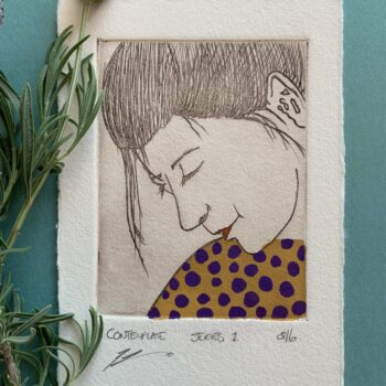beautiful-hand-painted-etching-of-woman-with-purple-spotted-dress-by-the-intrepid-potter theintrepidpotter 068196