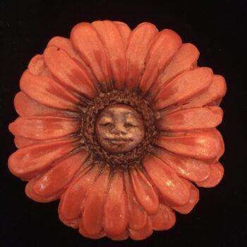 gerbera-nymph-brooch-pumpkin Amethyst Moon 892927