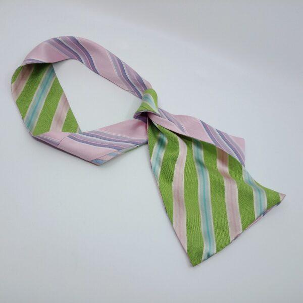 green-and-pink-silk-headband-by-judith-scott-upcycling judithscott 534092