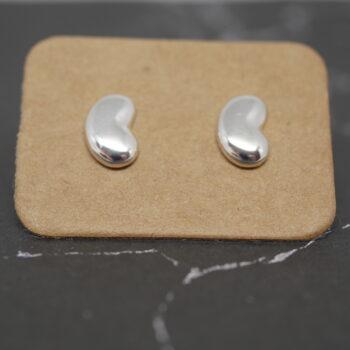 bean-studs-handmade-sterling-silver-bean-earrings-by-purplefish-designs andrea_purplefish 604801