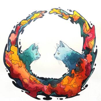 galaxy-kitten-watercolour-print-original-art-by-gaby-niemeyer-art-Gabrielle Niemeyer-346254