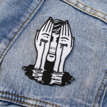 crying-hands-iron-on-patch-by-oh-jessica-jessica-ohjessica-507724